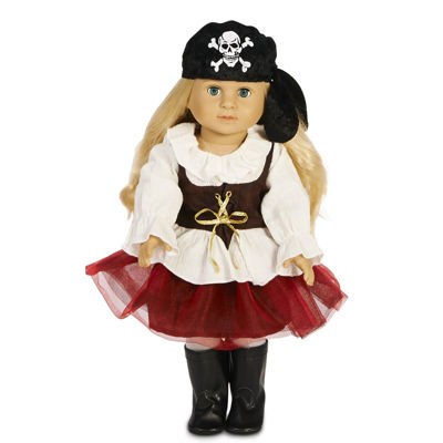 "Pirate Tutu 18"" Doll Costume"""