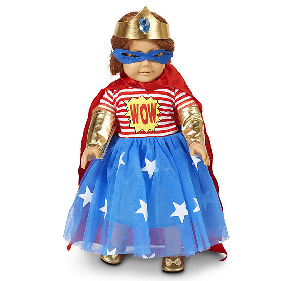 Pop Art Comic Superhero Girl 18 Doll Costume