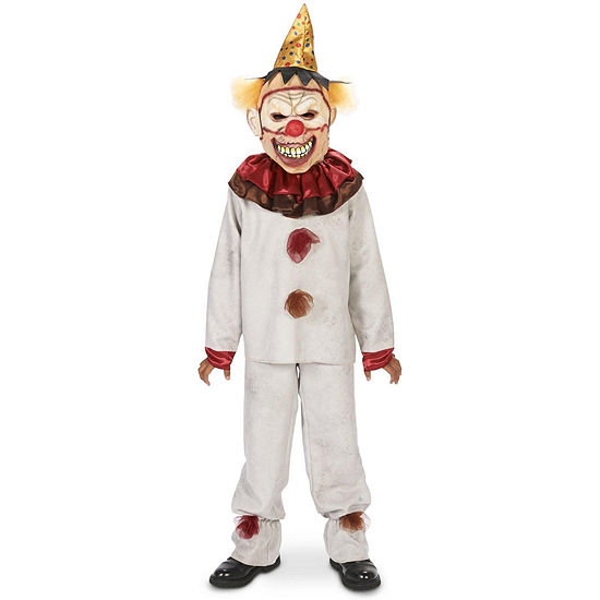 Scary the Carnival Clown with Mask Child Costume - Large (12-14)