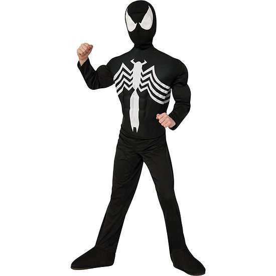 Black Spider-Man Muscle Chest Child Costume