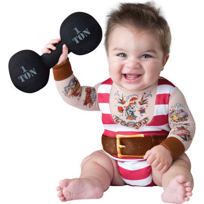 Silly Baby Strongman Costume - 6-12M