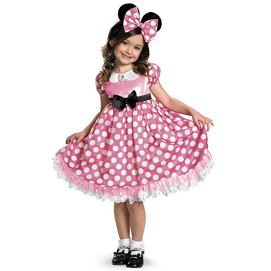b0a9657ac5a5 Clubhouse Minnie Mouse Pink Minnie Glow In The Dark Dot Dress size 4-6x -  JCPenney