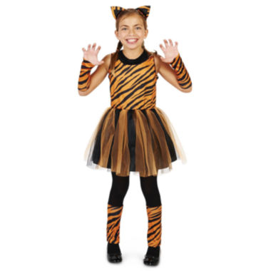 Cool Cat Tigeress Girl Child Costume