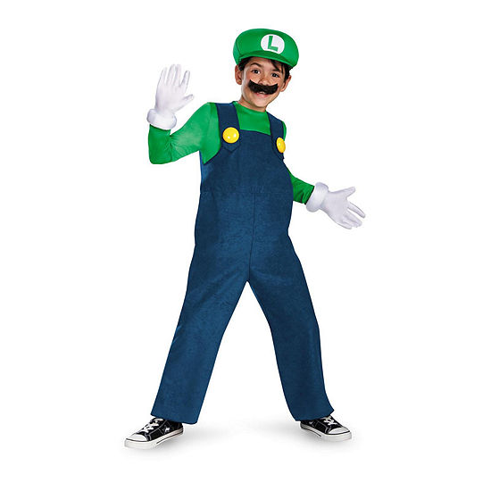 Super Mario Bros Deluxe Luigi Child Costume