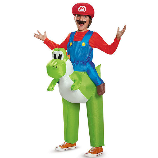 Super Mario Bros Ride A Yoshi Inflatable Child Costume One Size Fits Most