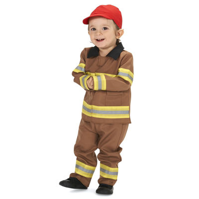 Tan Firefighter with Cap Infant Costume 18-24M