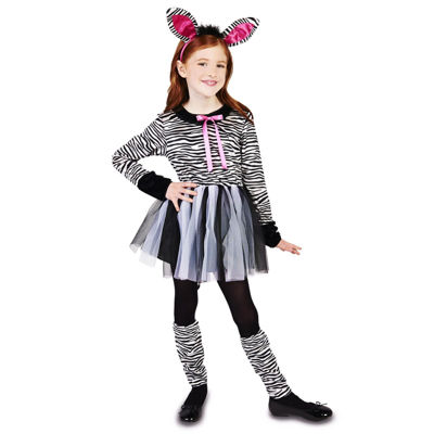 Zebra Girl Child Costume