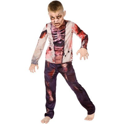Zombie Sublimation Child Costume