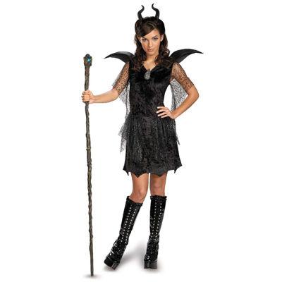 Maleficent Black Gown TweenTeen Costume