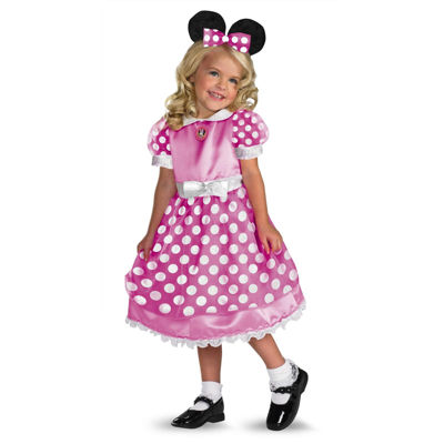 Clubhouse Minnie Mouse Pink Toddler / Child Costume- 3T/4T