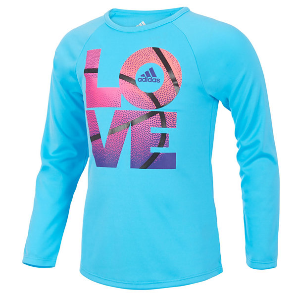adidas Short Sleeve Crew Neck T-Shirt-Preschool Girls