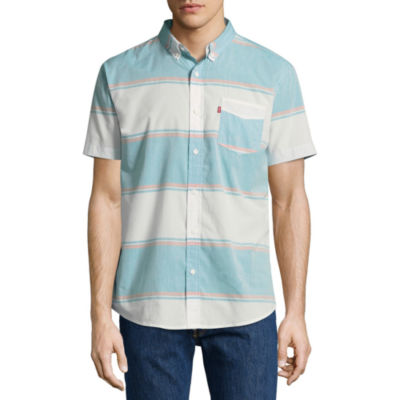 Levi's Short Sleeve Stripe Button-Front Shirt