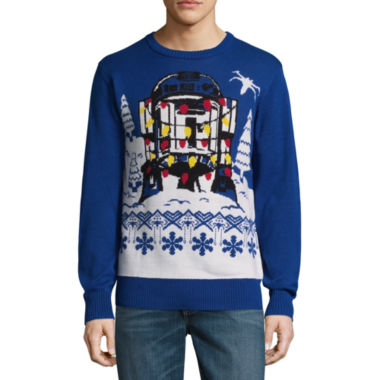 Novelty Season Crew Neck Long Sleeve Star Wars Pullover Sweater