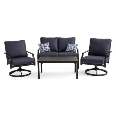 Outdoor Oasis San Luis 4-pc. Conversation Set with Swivel Chairs