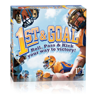 R and R Games 1st & Goal Football Board Game: RollPass & Kick Your Way to Victory!