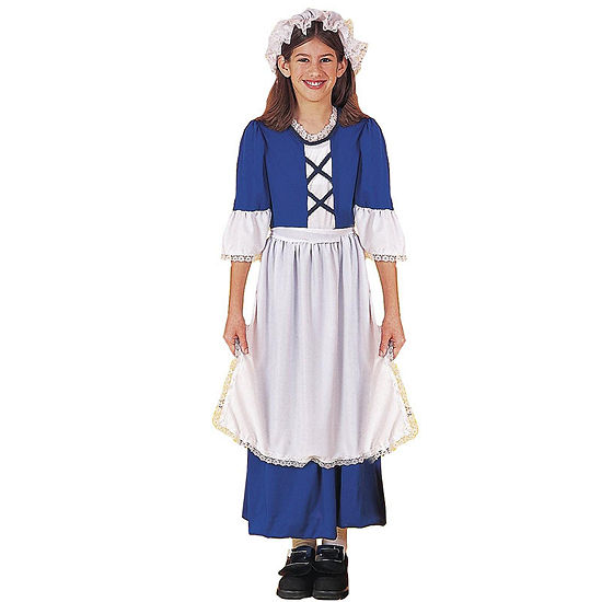 Little Colonial Girl Child Costume