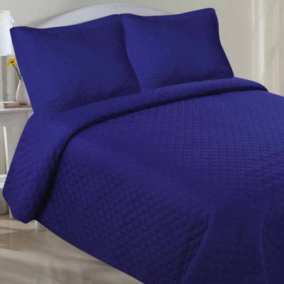 LCM Home Fashions Microfiber Pinsonic Quilt Set