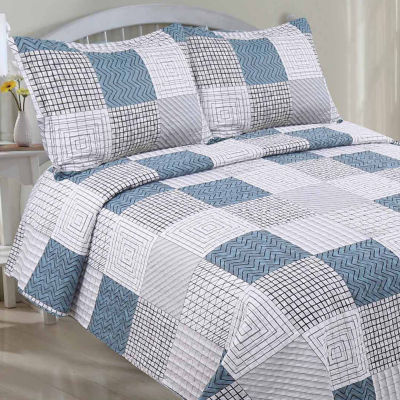 LCM Home Fashions Microfiber Classic Quilt Set
