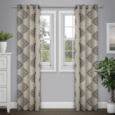 Journee Home Aileas Printed Grommet Top Curtain Panel