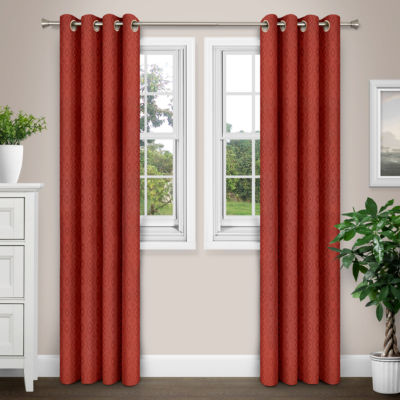 Journee Home Figi Patterned Grommet Curtain Panel Pair