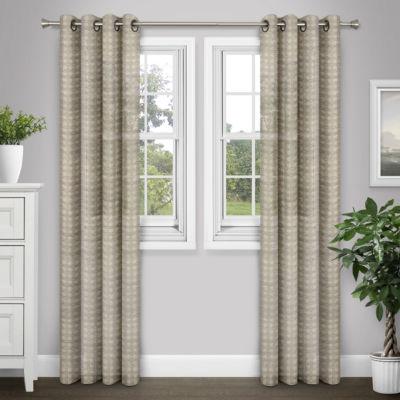 Journee Home Liza Sheer Grommet Curtain Panel Pair