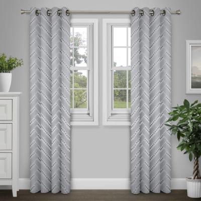 Journee Home Palmer Textured Grommet Curtain Panel Pair