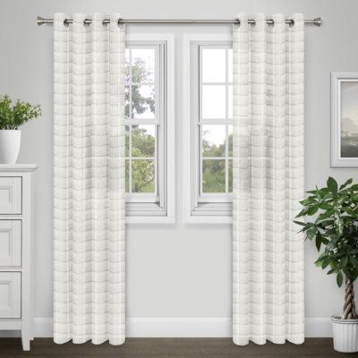 Journee Home Sabrina Extra Wide Sheer Grommet Curtain Panel Pair
