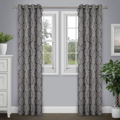 Journee Home Sare Grommet Top Curtain Panel