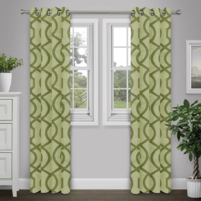 Journee Home Tallula Grommet Top Curtain Panel
