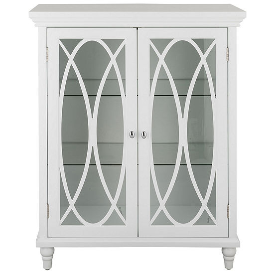 Fabulous 32 H Cassini Double Door Floor Cabinet With 2 Adjustable Tempered Glass Shelves Home Interior And Landscaping Ologienasavecom