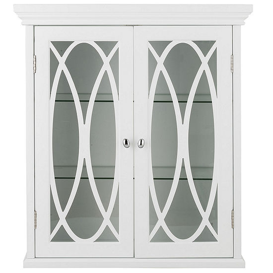24h Cassini Two Doors Wall Cabinet With 2 Adjustable Tempered Glass