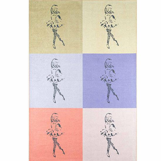 Novogratz By Momeni Dancing Girls Multi Rectangular Indoor Rugs