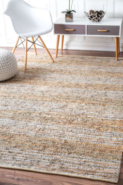nuLoom Flatweave Rozella Leather Stripes Rug