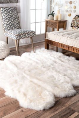 nuLoom Faux-Fur Area Rug