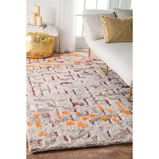 nuLoom Hand Tufted Abstract Shiloh Shaggy Rug