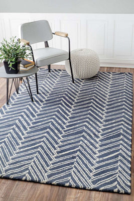 nuLoom Hand Tufted Alex Denim Rug