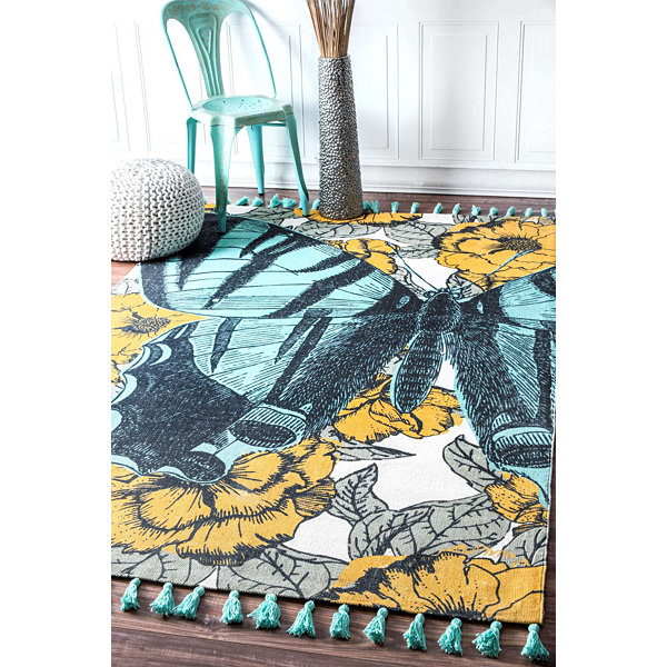 nuLoom Flat Woven Butterfly Thomas Paul CollectionContemporary Rug