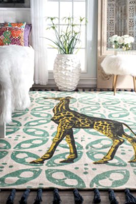 nuLoom Flat Woven Thomas Paul Collection Giraffe Contemporary Rug