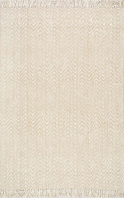 nuLoom Hand Woven Don Jute with Fringe Rug