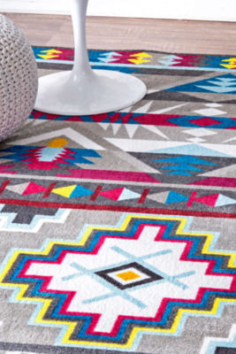 nuLoom Hand Tufted Donella Retro Tribal Rug