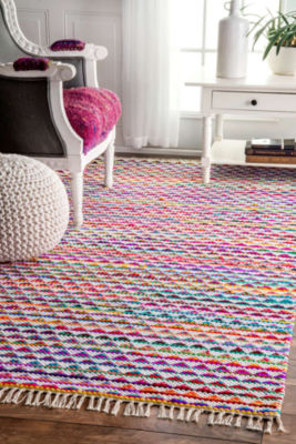 nuLoom Flatweave Rainbow Albina Rug