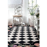 nuLoom Hand Hooked Morning Glory Rooster Rug