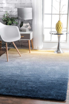 nuLoom Hand Tufted Ombre Hertha Shaggy Rug