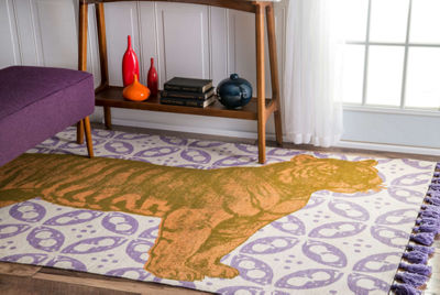 nuLoom Thomas Paul Flatweave Cotton Tiger Rug