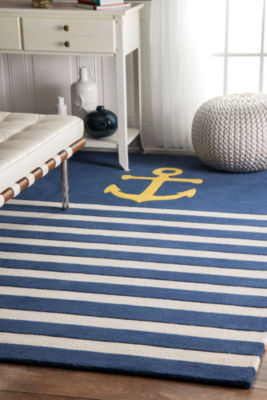 nuLoom Thomas Paul Hand Tufted Anchor Stripes Rug