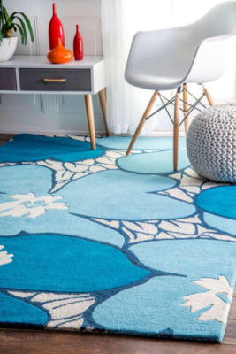 nuLoom Thomas Paul Hand Tufted Flowers Rug