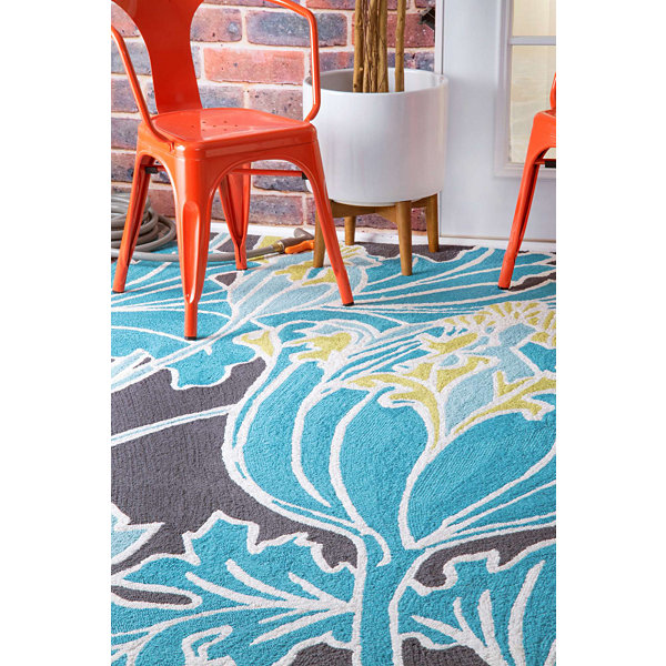 nuLoom Thomas Paul Outdoor Hand Hooked Tulip Rug