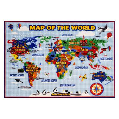 Smithsonian Map Rug