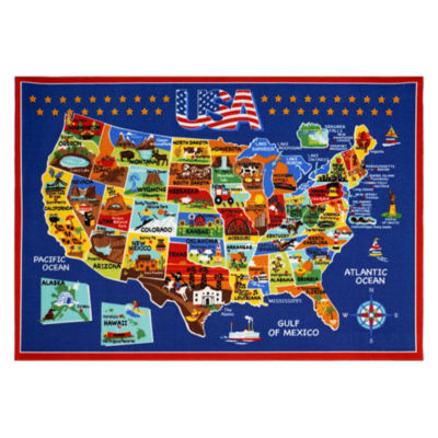 Smithsonian Map Rug