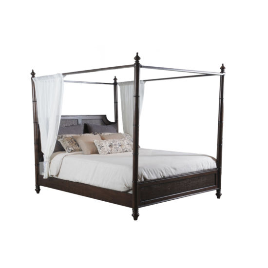Passages Caned Canopy Bed